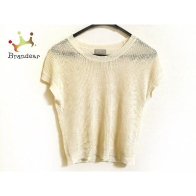 マーガレットハウエル MargaretHowell 半袖セーター サイズ2 M レディース アイボリー 麻   スペシャル特価 20210106
