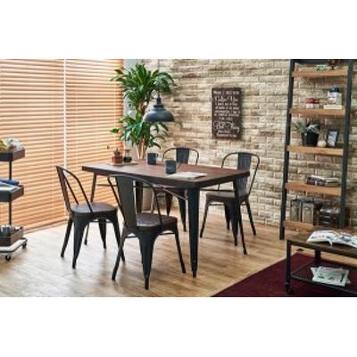 ダイニング5点セット テーブル:W140×D80×H76cm、チェア:W44×D53×H83.5×SH45cm LT-4692-140DBR-5A 萩原 [家具 インテリア]