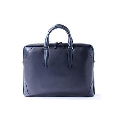 [フジタカ] レザービジネスバッグ A4薄マチ ジェードレザーII No.616502 (ネイビー)