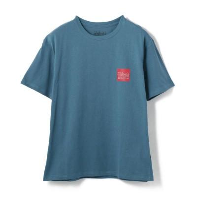 (Schott/ショット)Manhattan Portage/マンハッタン ポーテージ/Box Logo T-Shirt/ボックスロゴTシャツ/メンズ TURQUOI
