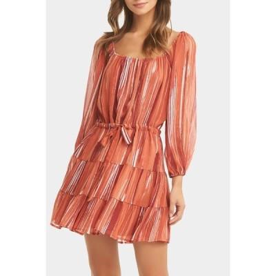 タルト レディース ワンピース トップス River Striped Tiered Mini Dress DRYBRUSH S