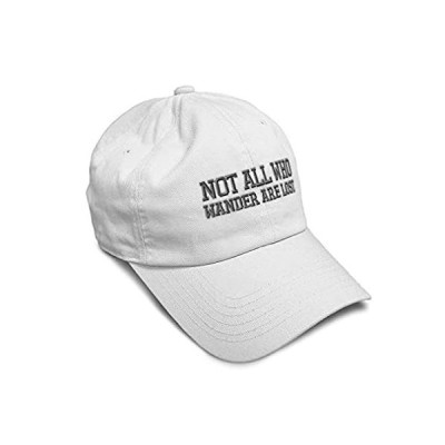 Soft Baseball Cap Not All Who Wander are Lost B Embroidery Twill Cotton Dad