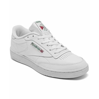 リーボック メンズ スニーカー シューズ Men's Club C 85 Casual Sneakers from Finish Line White Green