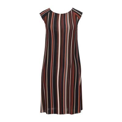 SIYU ミニワンピース&ドレス ブラウン 34 レーヨン 95% / ポリウレタン 5% ミニワンピース&ドレス
