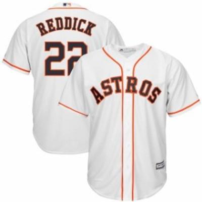 Majestic マジェスティック スポーツ用品  Majestic Josh Reddick Houston Astros White Home Cool Base Replica Player J