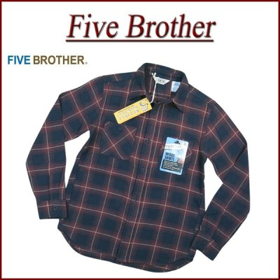 FIVE BROTHER ファイブブラザー チェック 長袖 ヘビーネルシャツ 151960 Made in INDIA
