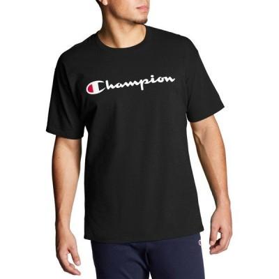 チャンピオン Tシャツ トップス メンズ Champion Men's Script Jersey Graphic T-Shirt (Regular and Big & Tall) Black
