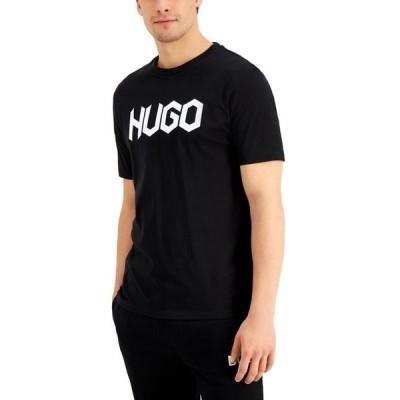 フューゴ メンズ Tシャツ トップス Men's Black Doctopus T-Shirt