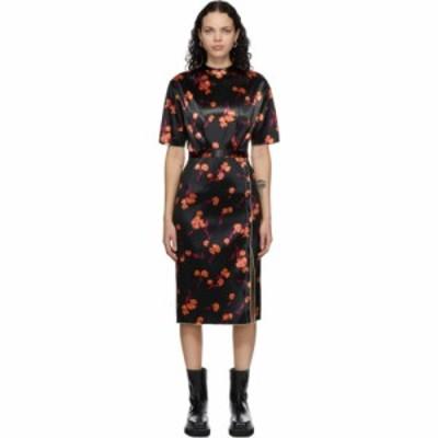 メリル ロッゲ Meryll Rogge レディース ワンピース ワンピース・ドレス Black Bonded Satin Daisy Dress Black multi