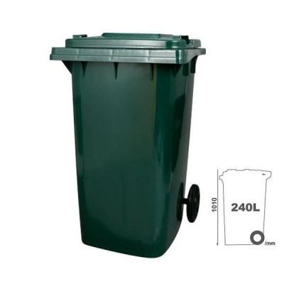 ダルトン プラスチック トラッシュカン ゴミ箱 240リットル PT-240GN グリーン