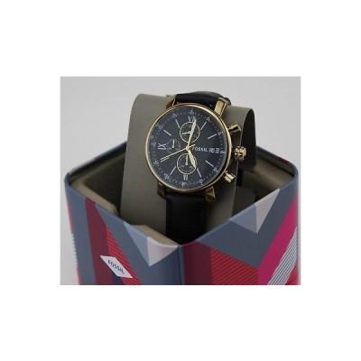 腕時計 フォッシル NEW AUTHENTIC FOSSIL RHETT CHRONOGRAPH GOLD BLACK LEATHER MEN'S BQ2187 WATCH