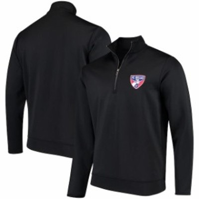 Antigua アンティグア スポーツ用品  Antigua FC Dallas Black Leader Quarter-Zip Pullover Jacket