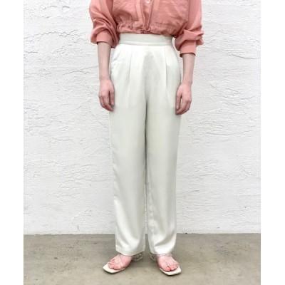 マルチサイズ / ヴィンテージサテンタックパンツ WOMEN パンツ > スラックス