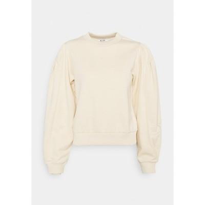 エヌ エー ケイ ディ パーカー・スウェットシャツ レディース アウター PUFF SLEEVE - Sweatshirt - beige