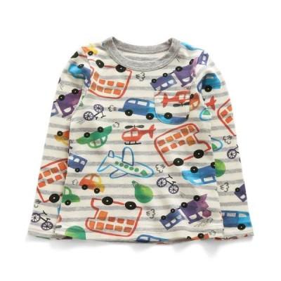 tシャツ Tシャツ 2柄長袖Tシャツ