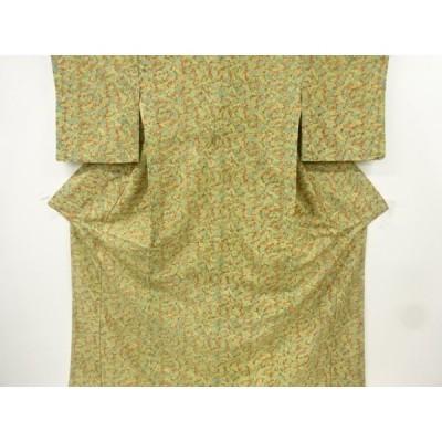 宗sou 地紙に花・古典柄小紋着物【リサイクル】【着】