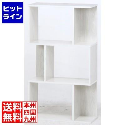 不二貿易 ( Fuji Boeki ) ディスプレイラック ホワイト 3段 S型 | 本棚 リビング収納 フラップ扉 フラップチェスト コミック シェルフ 書棚 おし…