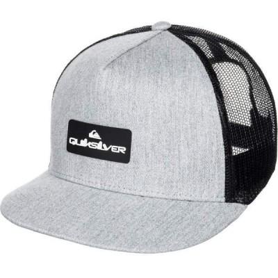 クイックシルバー 帽子 アクセサリー メンズ Quiksilver Men's Lockerbees Trucker Hat MediumGreyHeather