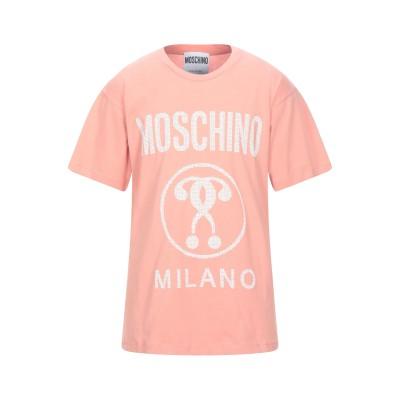 モスキーノ MOSCHINO T シャツ サーモンピンク S コットン 100% T シャツ