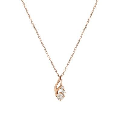 ネックレス レディース ダイヤモンド 10金 ピンクゴールド 10k K10 ESTELLE エステール ギフト プレゼント 普段使い