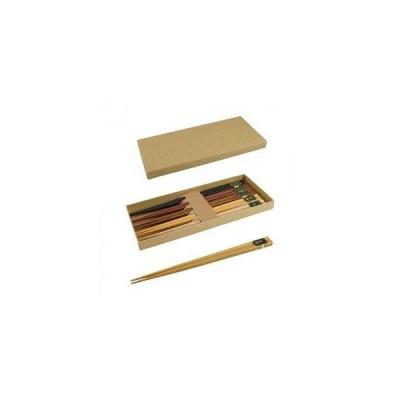 竹美商事 YOSHIKI 良木工房 木製箸5膳セット 化粧箱入り YK-C5 (1628748)