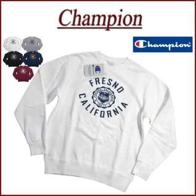 Champion チャンピオン トリコロールタグ カレッジプリント ミディアムウェイト スウェットシャツ C3-S015