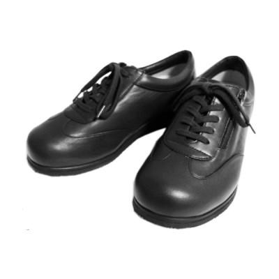 【整形外科医考案】膝の痛みの悪化を防ぐ靴 『Dr. 歩人(ドクター 歩人)』  紐+ファスナータイプ(黒)22〜25