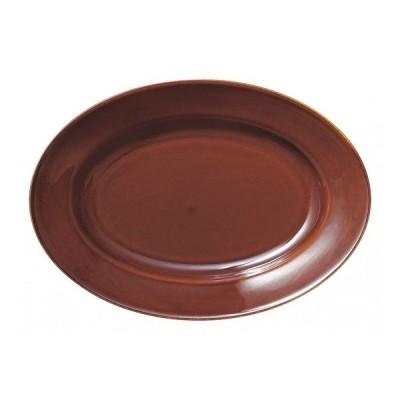 エクシブ 31cm プラター アメ 洋食器 楕円・変形プレート(L) 業務用 カネスズ 約L31.4cm