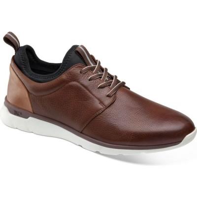 ジョンストン&マーフィー Johnston & Murphy メンズ スニーカー シューズ・靴 Prentiss Plain-Toe Sneakers Mahogany