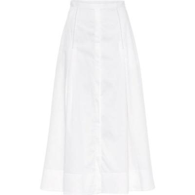 ガブリエラ ハースト Gabriela Hearst レディース ロング・マキシ丈スカート スカート Jean high-rise cotton skirt White