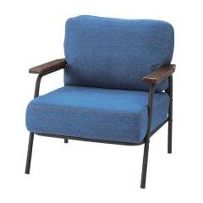 ソファ 幅71cm 1人掛 コーデュロイ ファブリック 布張り ひじ掛け チェア 椅子 ソファー ヴィンテージ調