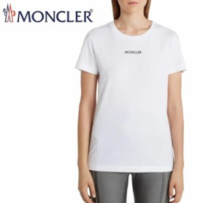 送料無料!!L8 MONCLER モンクレール 8C7A610 829FB ホワイト ロゴ クルーネック 半袖 Tシャツ