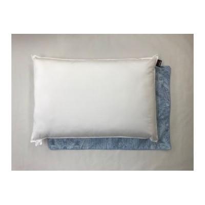 【2628-0486】肌温度調整枕 アウトラストウオッシャブルピロー 枕カバー ブルー2枚付き