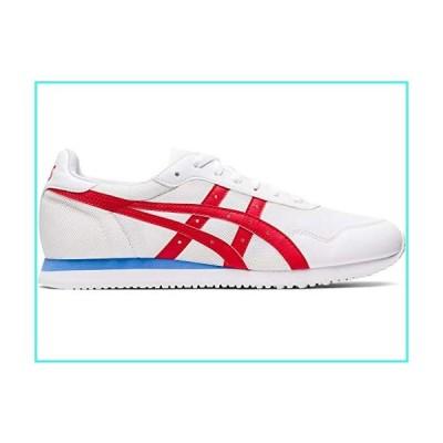 【新品】ASICS Men's Tiger Runner Shoes, 13M, White/Classic RED(並行輸入品)