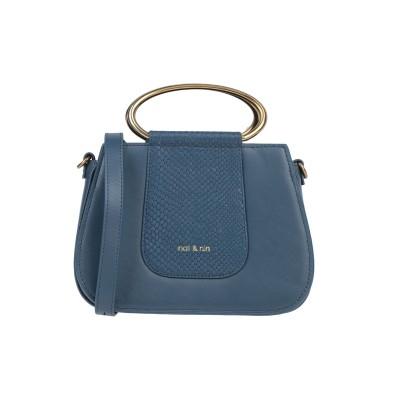 NAT & NIN メッセンジャーバッグ ブルー 柔らかめの牛革 メッセンジャーバッグ