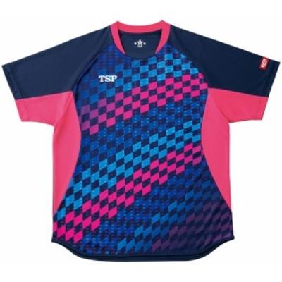 TSP ゲームシャツ チェッカーグラデシャツ 卓球 ゲームシャツ 031431-0100