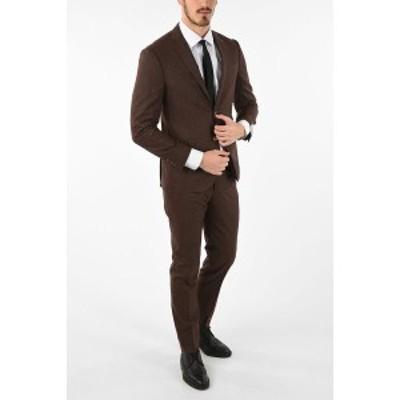 CORNELIANI/コルネリアーニ Brown メンズ side vents notch lapel drop 7R 2-button ACADEMY SOFT suit dk