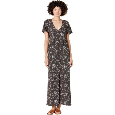 ハーレー Hurley レディース ワンピース マキシ丈 ワンピース・ドレス Button-Up Maxi Dress Black Belize