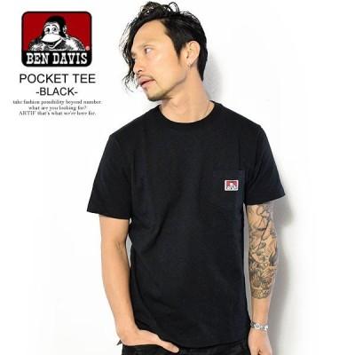 ベンデイビス Tシャツ BEN DAVIS POCKET TEE -BLACK- c-9580000