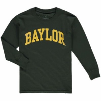 Fanatics Branded ファナティクス ブランド スポーツ用品  Baylor Bears Youth Green Primary Logo Basic Arch Long Sl