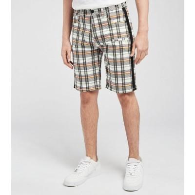 デシベル Decibel メンズ ショートパンツ ボトムス・パンツ Plaid Shorts With Black Tape Black