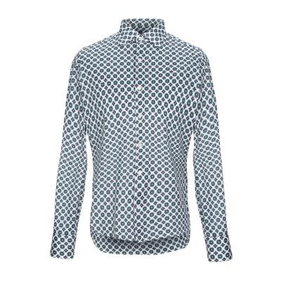 GIAMPAOLO シャツ ホワイト L コットン 100% シャツ