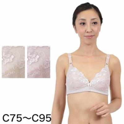 ノンワイヤーブラ 綿 C75~C95 (婦人肌着) (取寄せ)