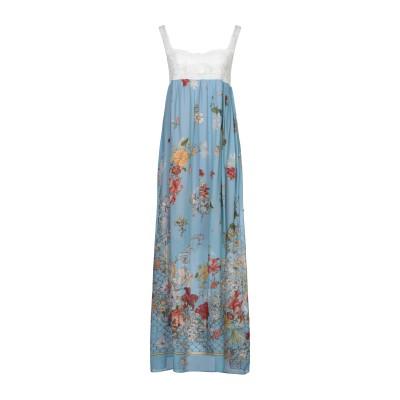 セミクチュール SEMICOUTURE ロングワンピース&ドレス スカイブルー 38 レーヨン 100% / ポリエステル ロングワンピース&ドレス