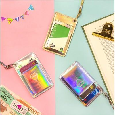 ロープクリップで催眠レーザー明るい革パーソナリティカードパッケージバスカードは、カードを設定します