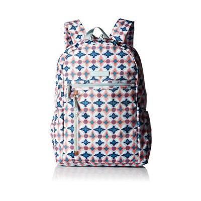 Vera Bradley Lighten Up Study Hall Backpack, Polyester, water geo