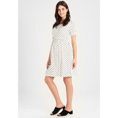 アンヴィ ド フレーズ レディース ワンピース トップス LIMBO - Jersey dress - off white/navy off white/navy