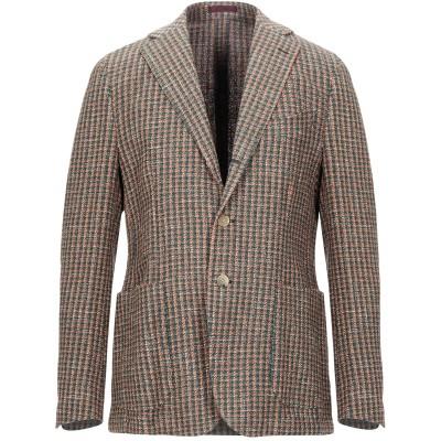 BESPOKE テーラードジャケット 赤茶色 50 コットン 48% / ナイロン 22% / リネン 22% / 指定外繊維 8% テーラードジャ