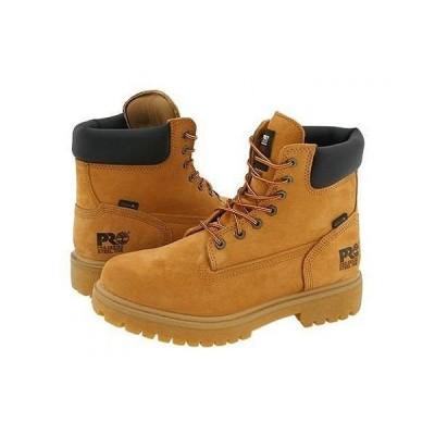 """Timberland PRO ティンバーランド メンズ 男性用 シューズ 靴 ブーツ 安全靴 ワーカーブーツ Direct Attach 6"""" Steel Toe - Wheat Nubuck Leather"""