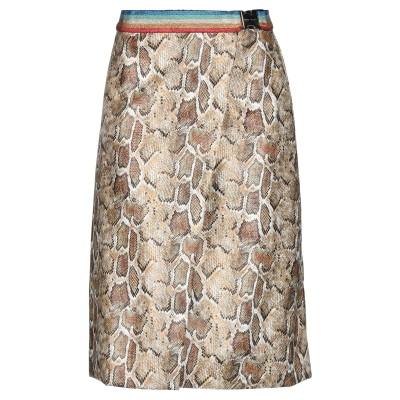 NORA BARTH ひざ丈スカート カーキ 42 ポリウレタン 60% / ポリエステル 40% ひざ丈スカート